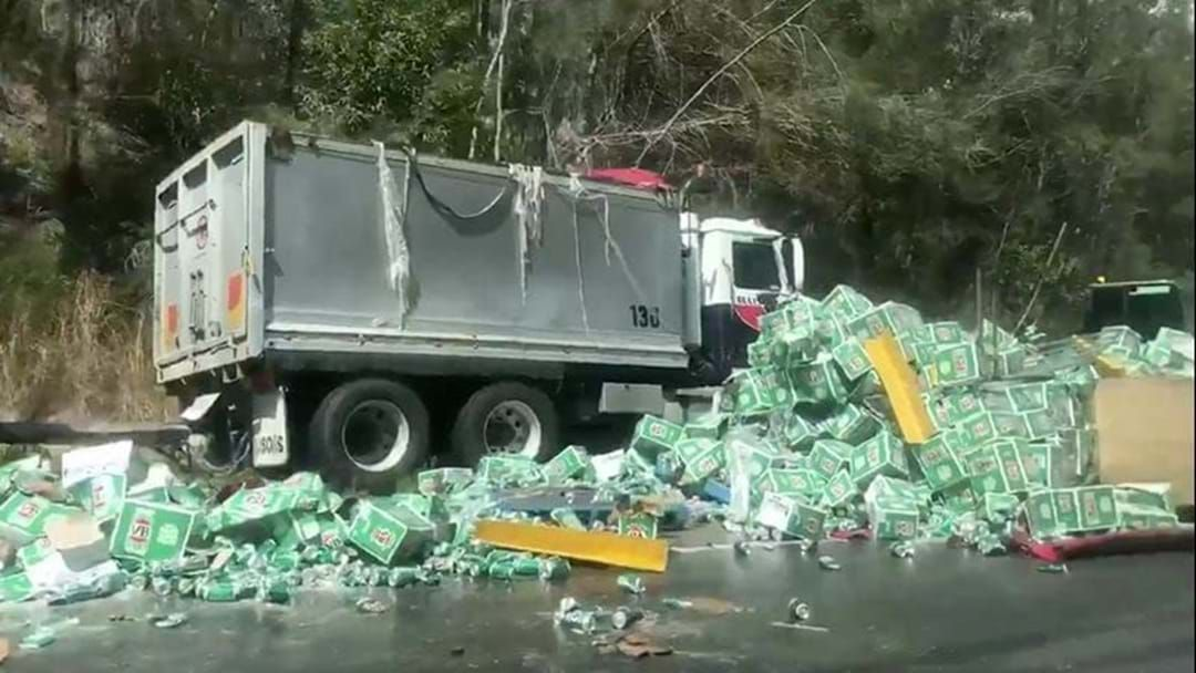 Article heading image for Not Okay: Truck Carrying Boatloads Of VB Crashes In New South Wales