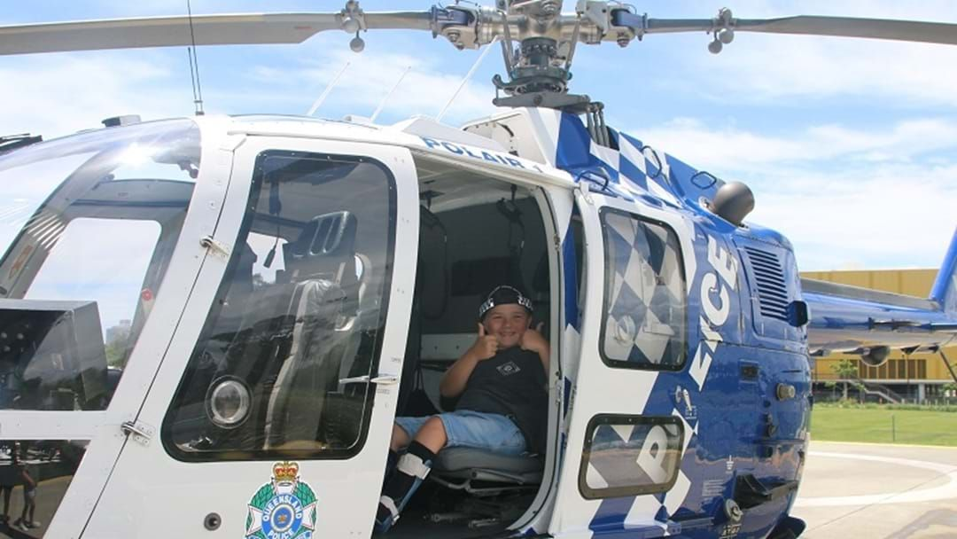 Dream come true for six-year-old POLAIR officer for the day | Triple M