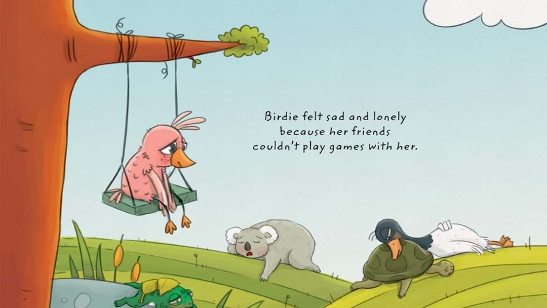 Article heading image for This 'Birdie' Book Is Going To Help With Explaining COVID-19 To Children