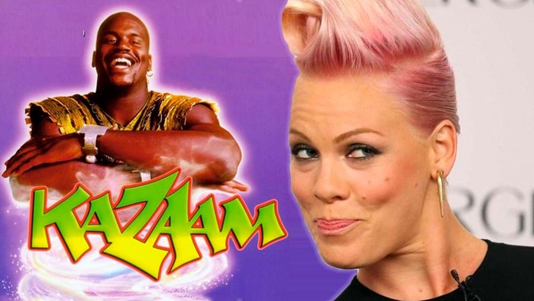 Article heading image for We Discovered 17 Year Old P!nk Featured In The 90's Movie Kazaam With Shaquille O'Neal