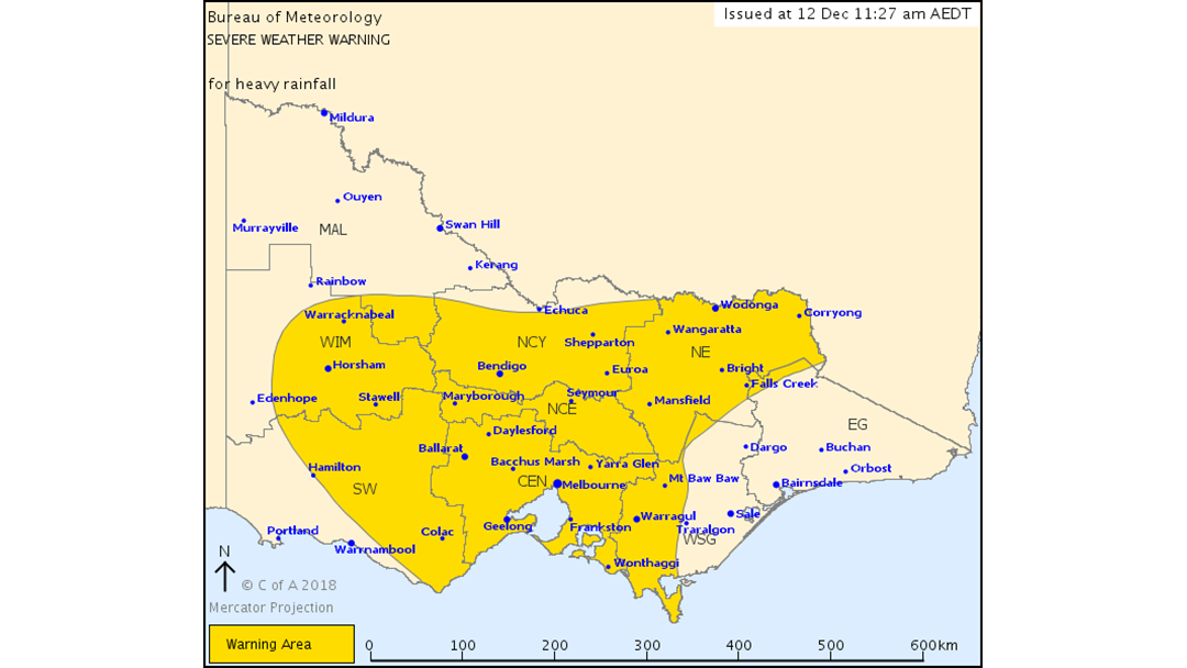 Article heading image for Heavy Rain, Thunderstorms To Lash Central Victoria