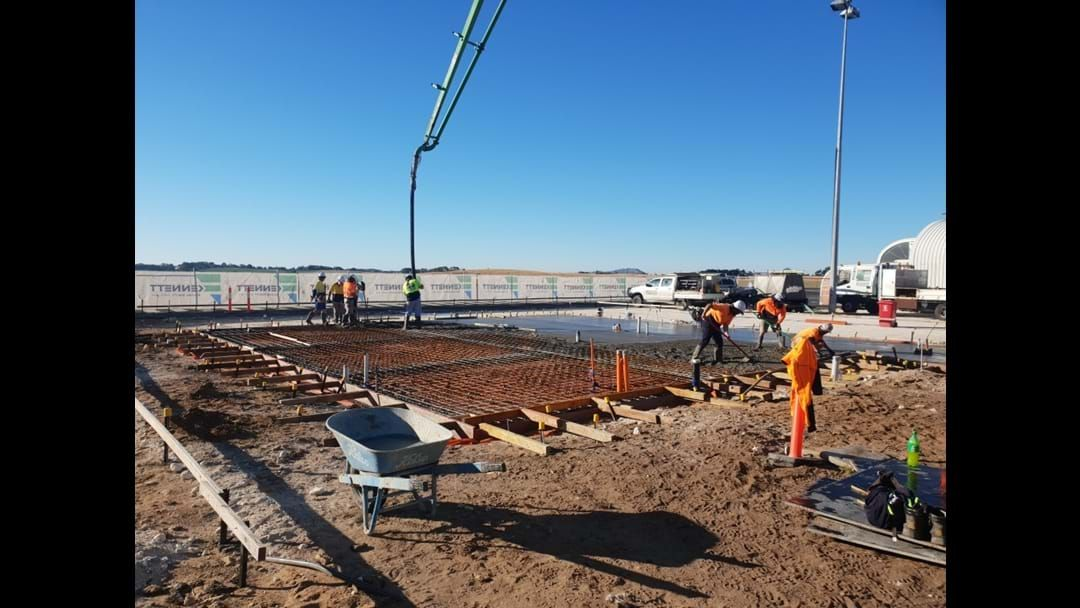 Article heading image for Foundation works for Stage 1 of the Mt Gambier Airport terminal redevelopment underway