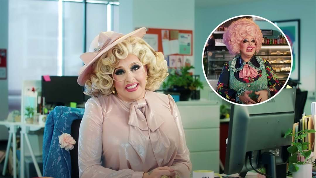 Article heading image for Drag Race Finalist Karen From Finance Drops Her New Song 'Out Of Office'