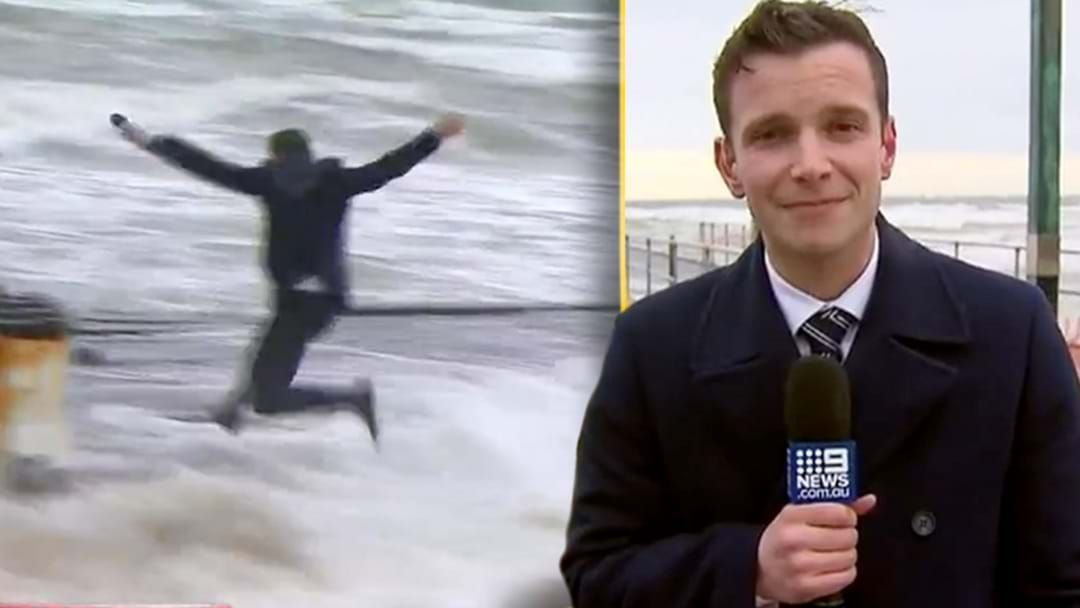 Article heading image for Channel 9's Mark Santomartino Explains What The Hell He Was Doing Jumping On Frankston Pier