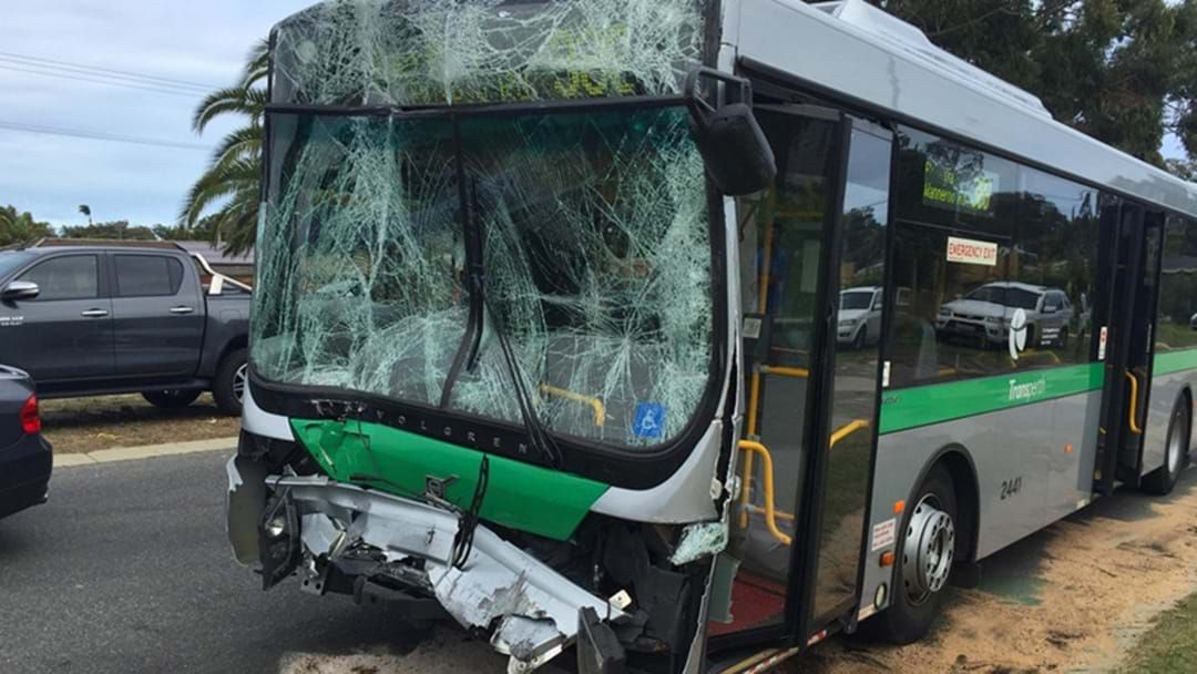 Article heading image for Double Bus Crash In Warwick Traps Driver