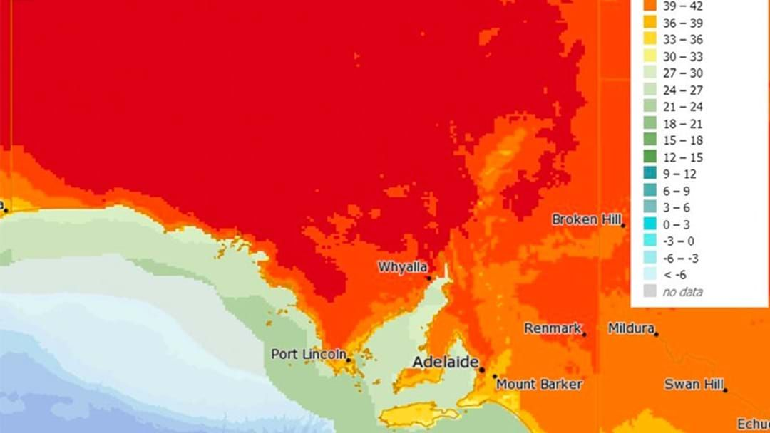 Article heading image for Absolute Scorcher: Temperates Will Hit Close To 50°C In South Australia Today