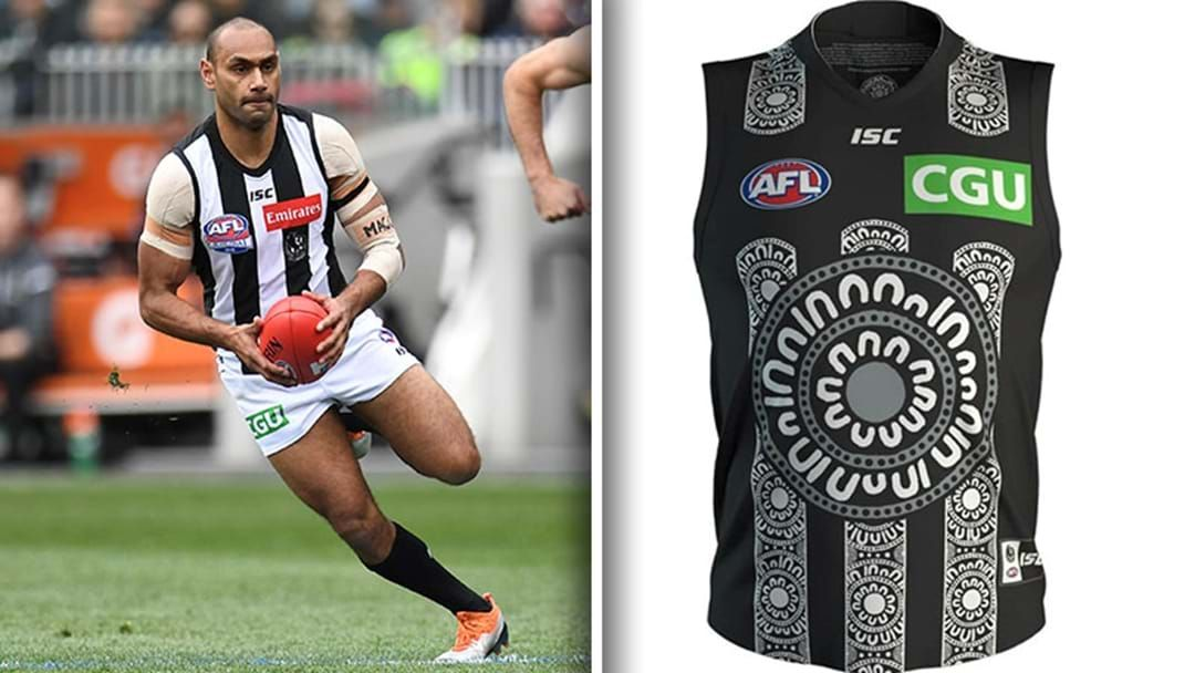 Article heading image for Travis Varcoe Explains The Symbolism Of Collingwood's Indigenous Guernsey