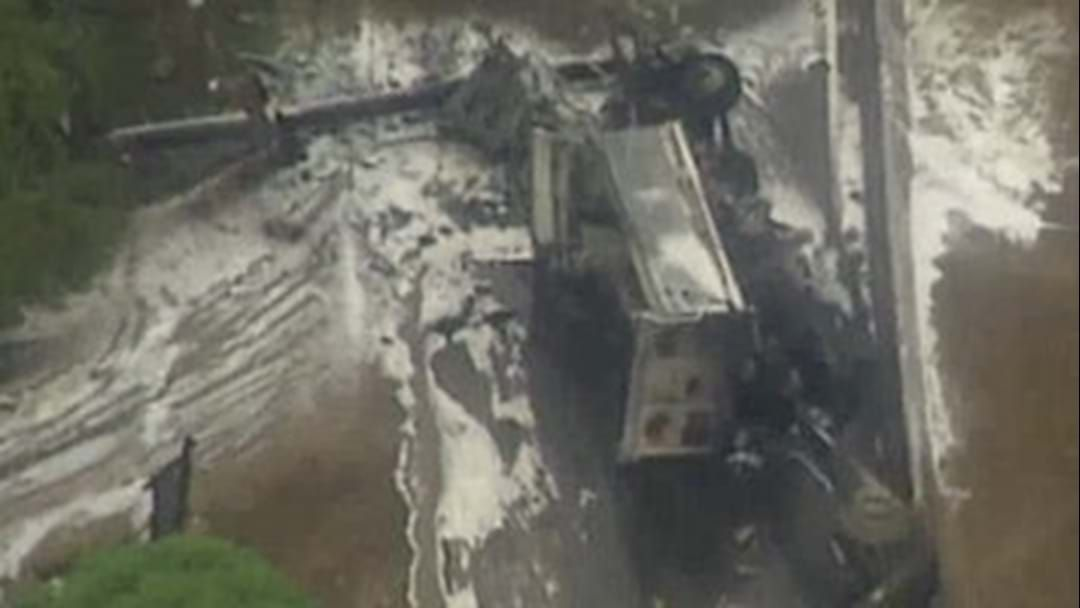 Article heading image for Truck Hits Power Poles And Car Before Exploding At Bulli Pass