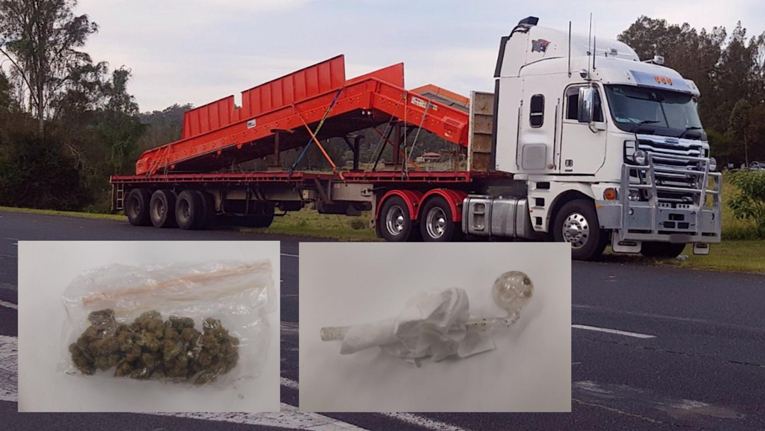 Article heading image for Cannabis and Bong Found in Erratic Truck Driver's Cabin