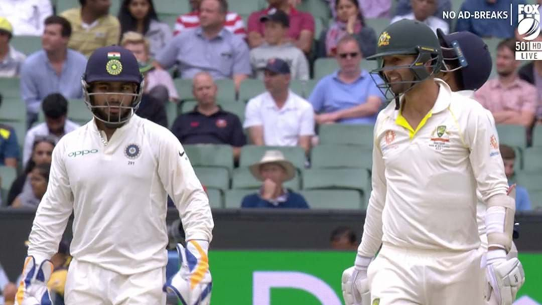 Article heading image for LISTEN | Nathan Lyon's Wholesome Reply To Some Sledging From Rishabh Pant