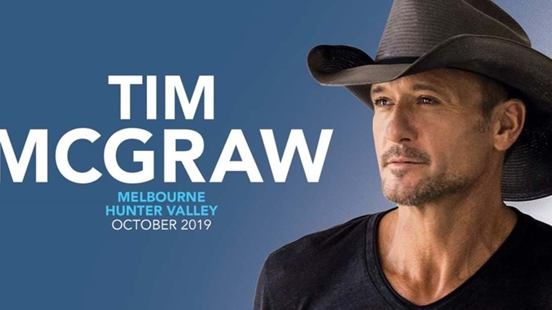 Article heading image for Tim McGraw's Sydney & Melbourne Headline Shows On SALE NOW!