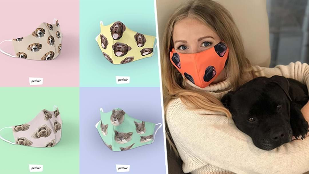 Article heading image for PSA: You Can Get These Adorable Aussie-Made Face Masks Of Your Pet