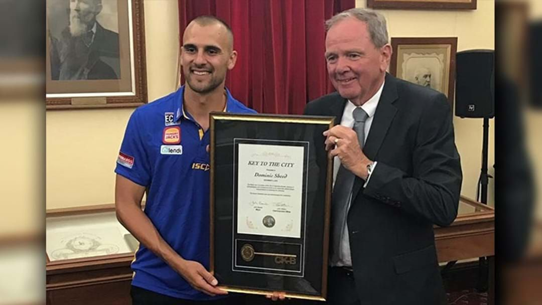 Article heading image for Dom Sheed Has Been Given The Keys To The City Of Kalgoorlie