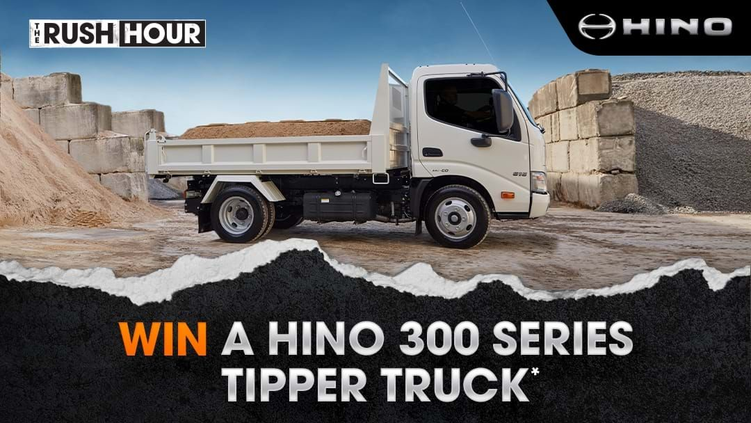 Competition heading image for Win A Hino 300 Series Tipper Truck