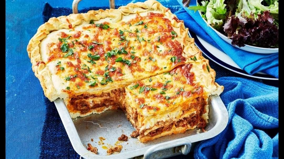 Article heading image for I Don't Know Who Needs To Hear This But Lasagne Garlic Bread Is A Thing