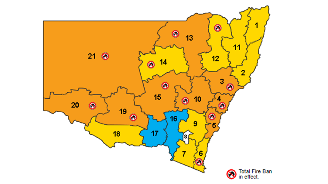 Article heading image for Total Fire Ban For Saturday
