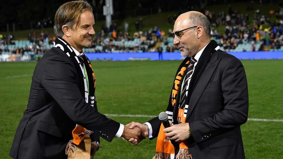 Article heading image for Tigers Chairman Lee Hagipantelis Comments On Michael Maguire's Future