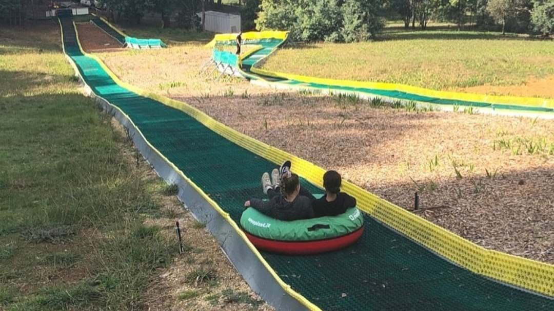 Article heading image for You Can Now Slide Down SA's Massive Tube Slide With Your Mate!