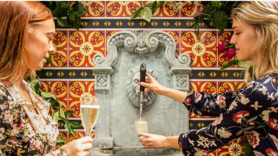 Article heading image for This Brisbane Joint Has An Actual Prosecco FOUNTAIN For Your Sunday Sesh
