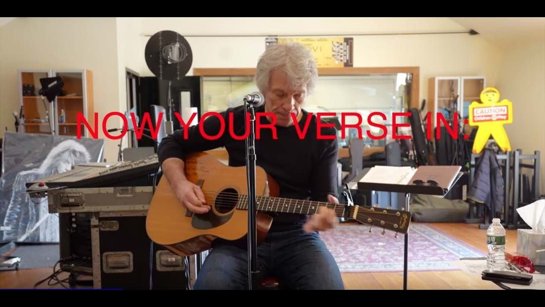 Article heading image for Jon Bon Jovi's Written A Coronavirus Tune And He Needs You For The Second Verse