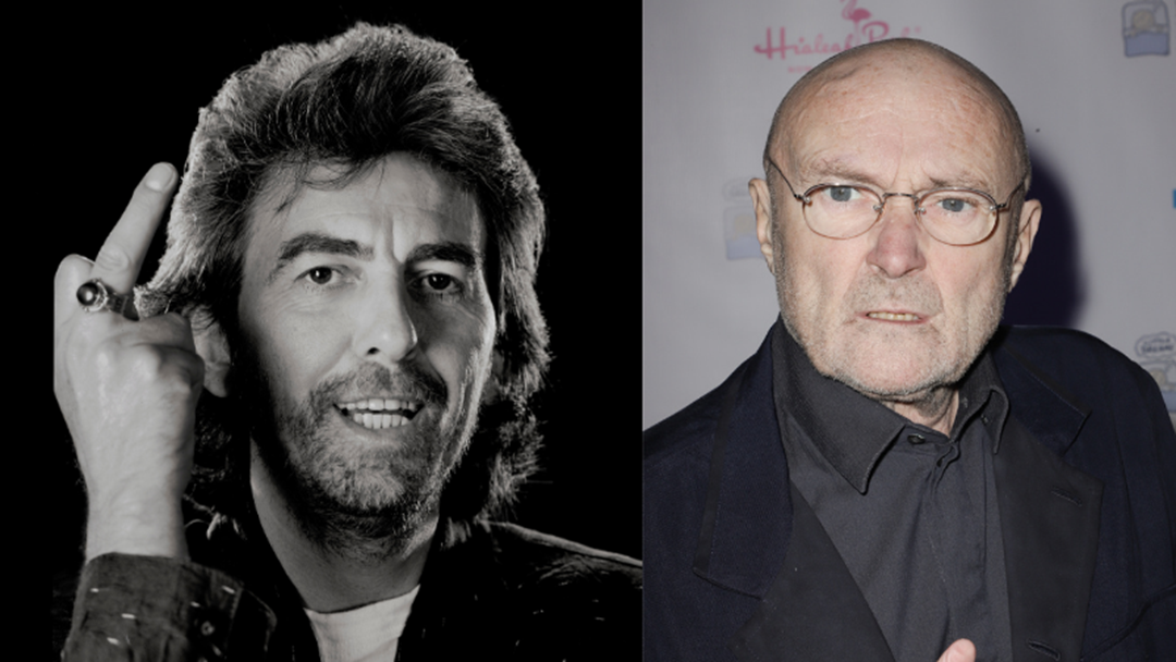 Article heading image for George Harrison Stitched Up Phil Collins With A Prank Even More Genius Than His Guitar Playing
