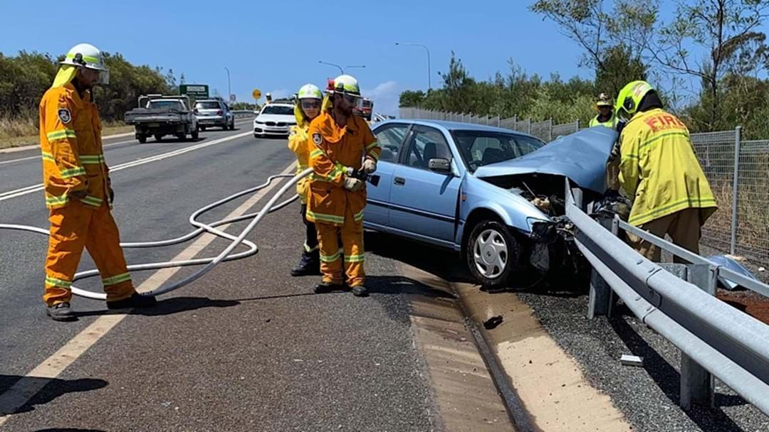 Article heading image for CRASH: Car Leaves Highway before Crashing into Barrier at Emerald Beach