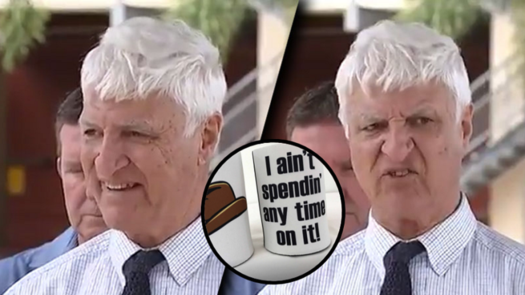 Article heading image for You Can Now Have Bob Katter Catch Phrase Mugs and Stubby Coolers