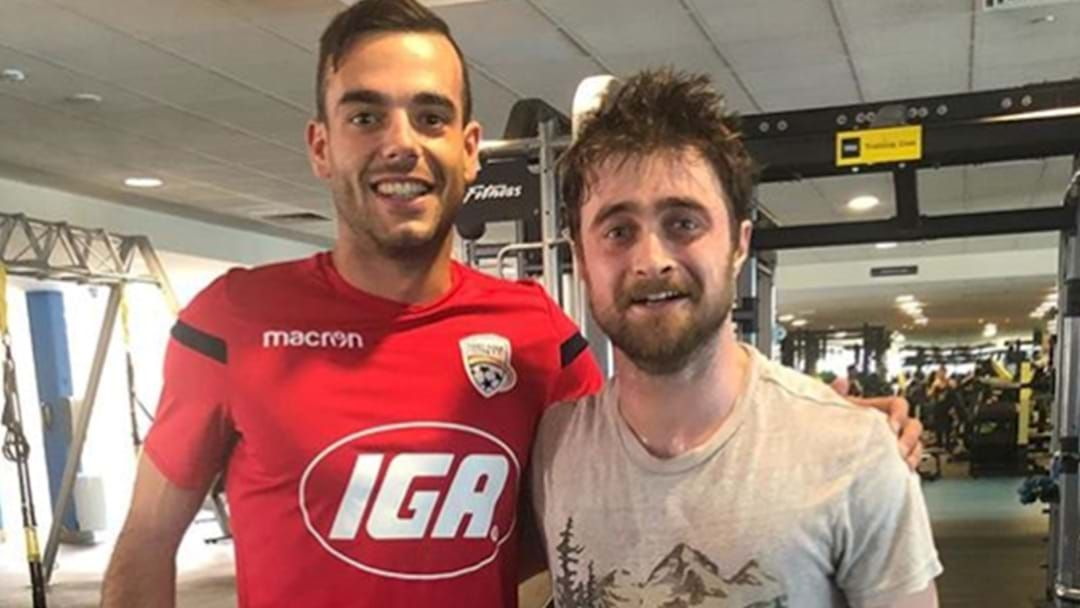 Article heading image for Daniel Radcliffe, Very Sweaty, Has Been Spotted In An Adelaide Gym