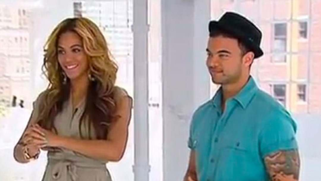 Article heading image for Guy Sebastian Reveals His Wife's Super Embarrassing Interaction With Beyoncé!