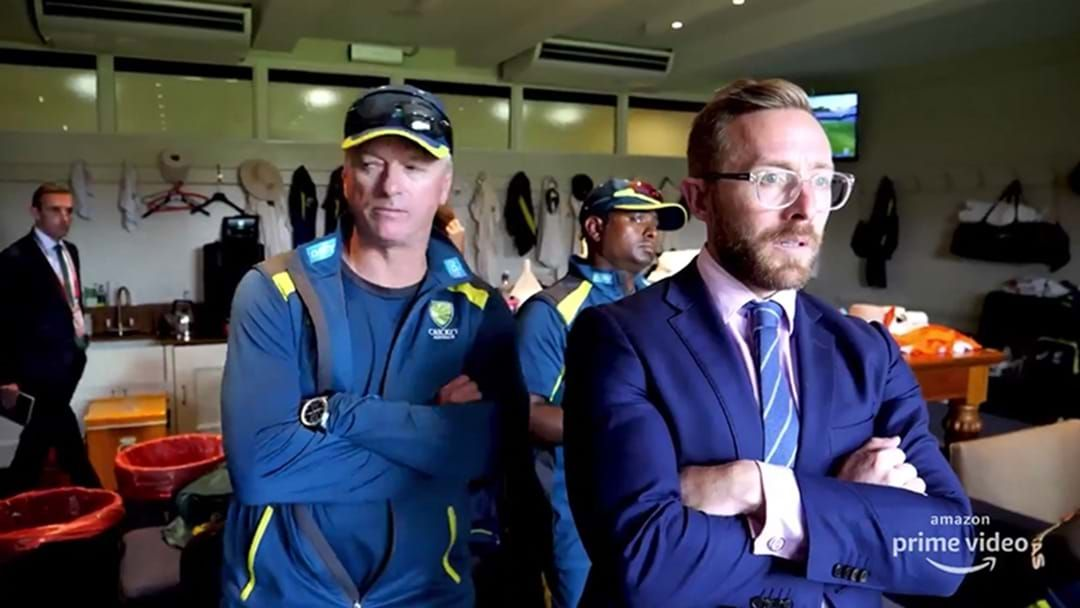 Article heading image for The Behind The Scenes Footage Of The Dressing Room When Steve Smith Got Hit In The Ashes Is Intense