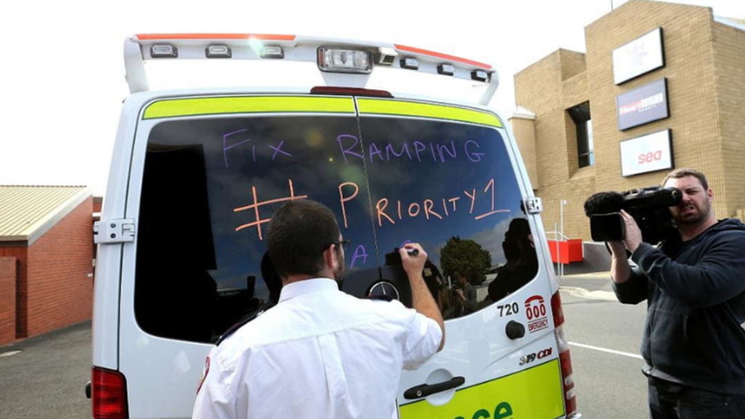 Article heading image for If You See Hobart Ambulances With Chalk Covering The Windows, Here's Why...