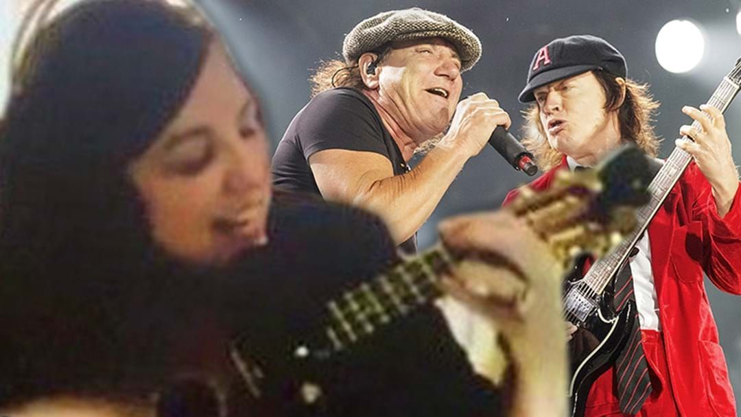 Article heading image for AC/DC's Angus Young & Brian Johnson Sing Along To Jane Kennedy Playing T.N.T. On Ukulele!