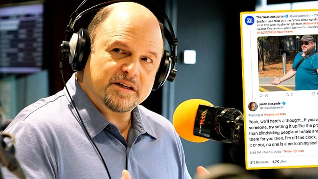 "Article heading image for Jason Alexander Has A Crack At WA Newspaper For ""Blindsiding"" Him"