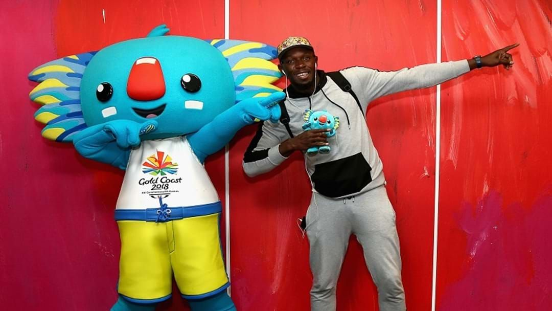 Article heading image for Usain Bolt Touches Down Ahead Of The Comm Games