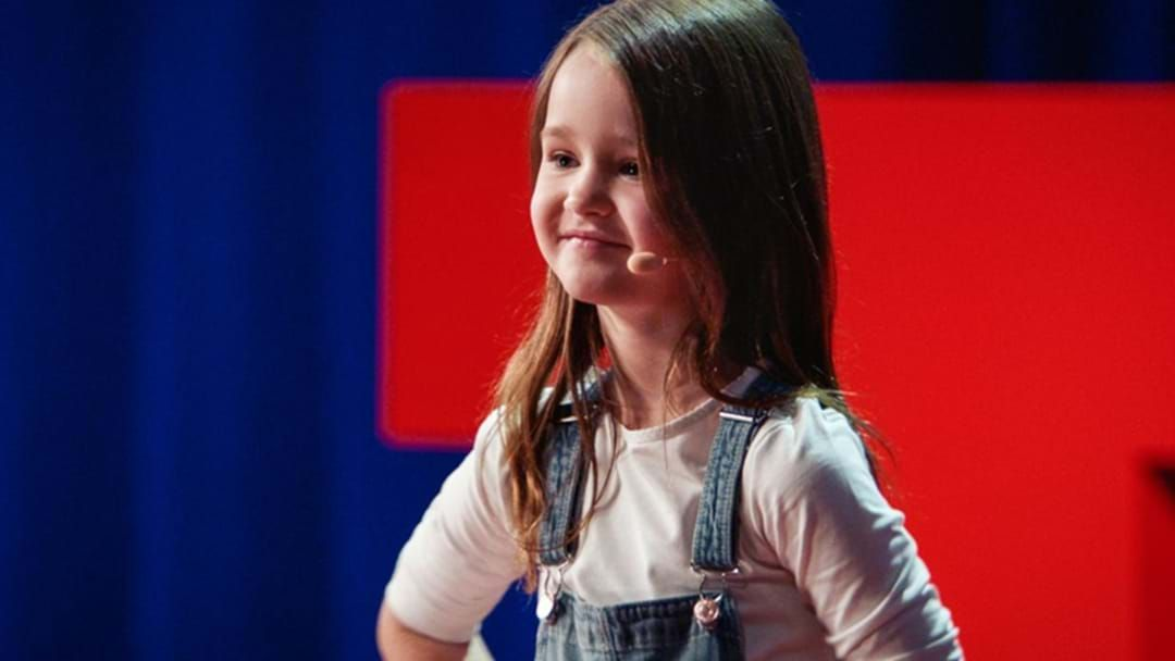 Article heading image for A 7-Year-Old Queenslander Has Become The Youngest Person To Have Ever Given A TED Talk