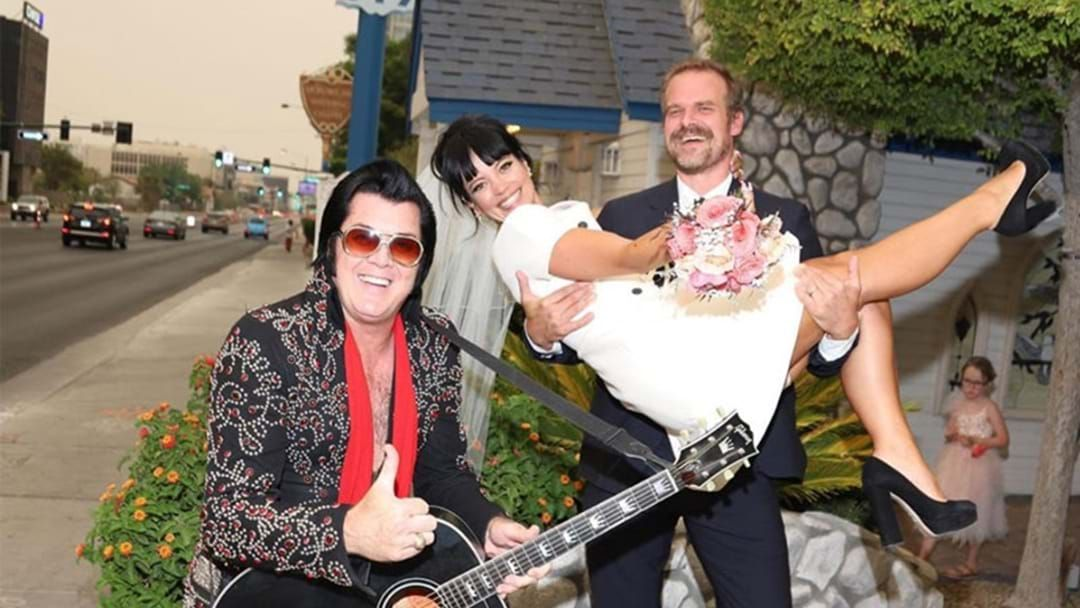 Article heading image for Lily Allen & David Harbour Have Officially Married In Las Vegas Wedding!