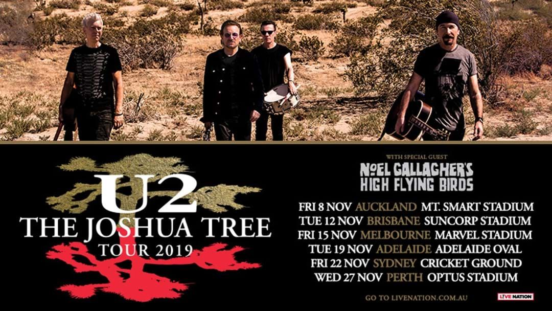 U2 Are Bringing The Joshua Tree Tour Down Under This Year