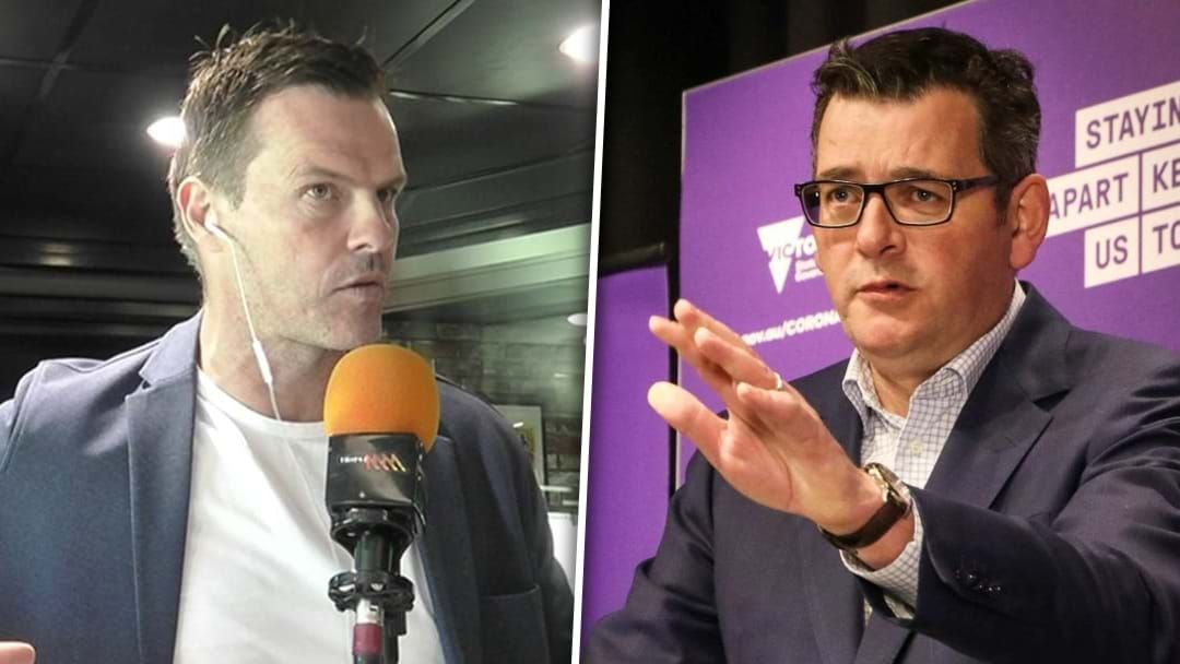 Article heading image for Luke Darcy Challenges Daniel Andrews Over The Handling Of The Extended Lockdown