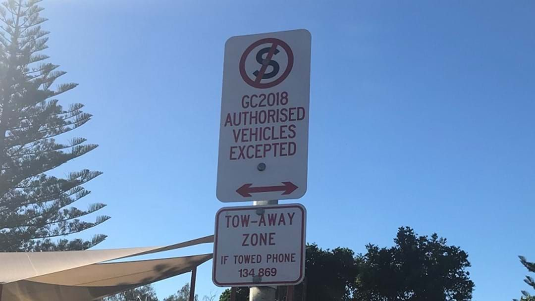 Article heading image for Comm Games Parking Signs Still Up Nine Days After Closing Ceremony