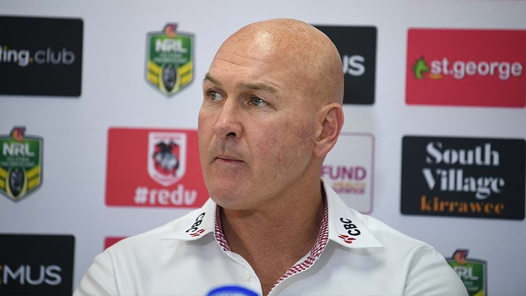 Article heading image for Dragons Set To Sack Paul McGregor If His Side Loses To The Titans This Weekend