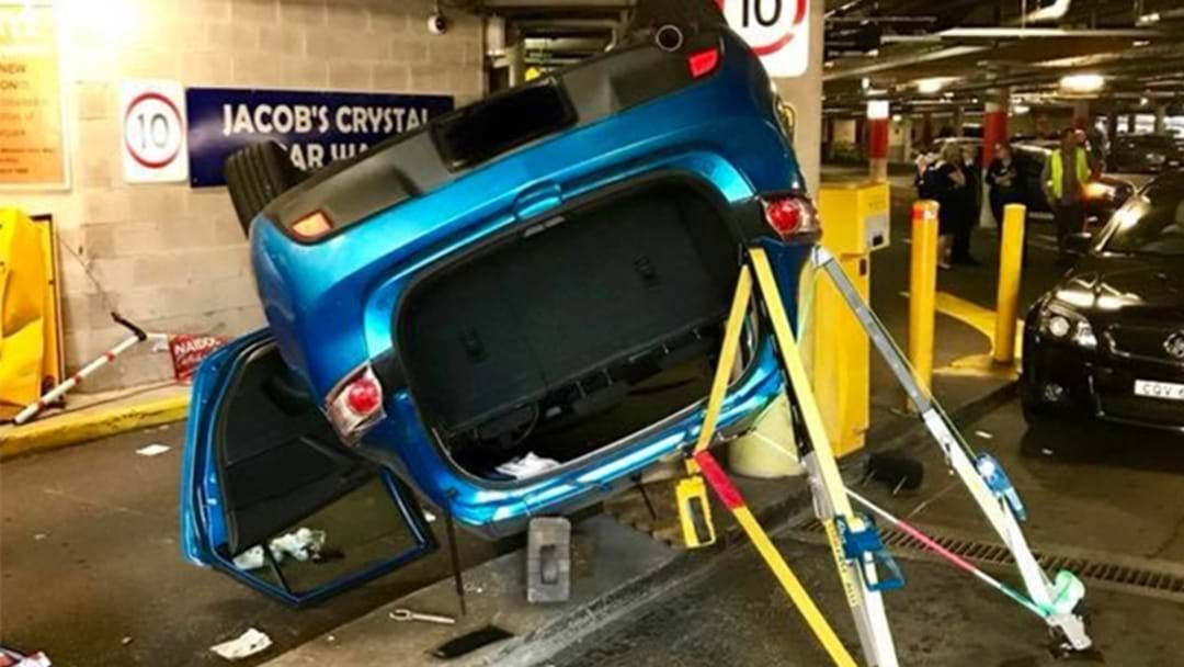 Article heading image for Seemingly-Impossible Car Flip In Sydney Carpark Today