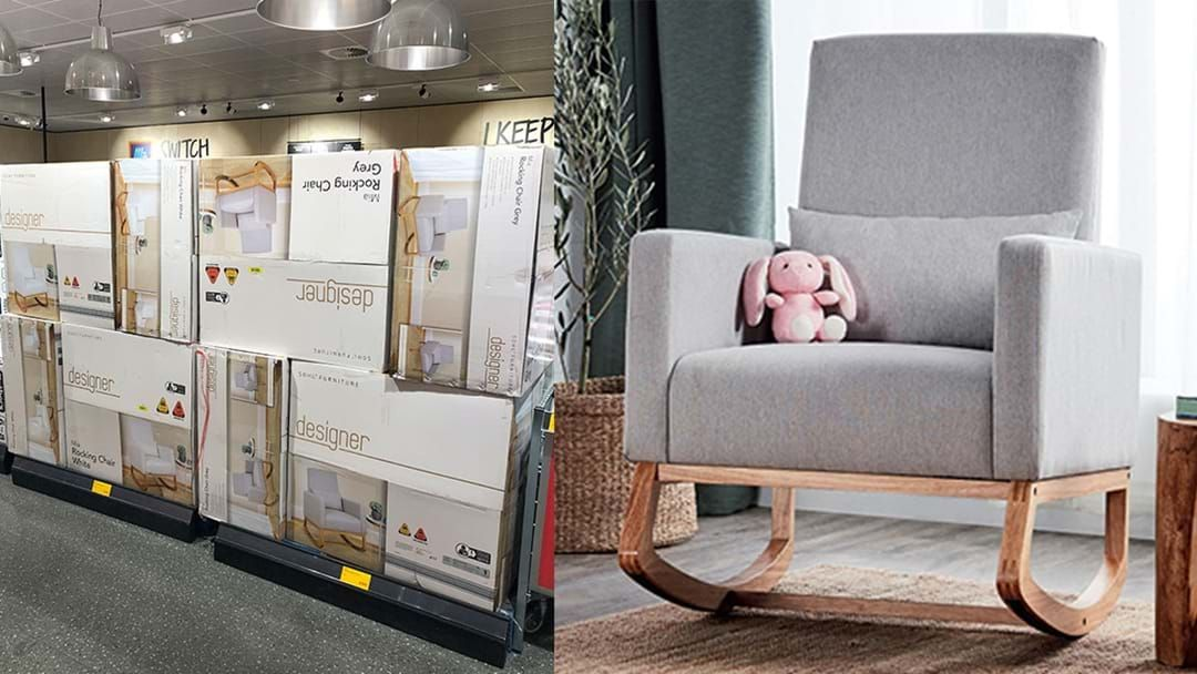 Article heading image for PSA: One Adelaide Aldi Is Currently Stacked With The Mia Rocking Chair