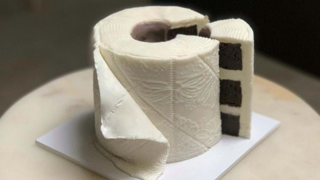 Article heading image for Sydney Local Kate Baked A Toilet Paper Cake To Alleviate COVID-19 Stress