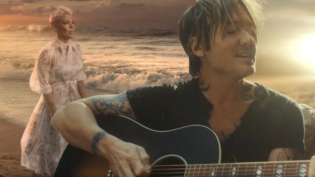 Article heading image for Keith Urban And P!nk Have A Day At The Beach In Stunning New Video
