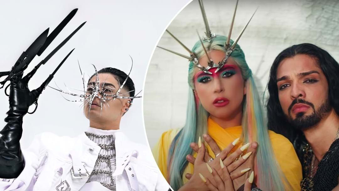 Article heading image for Lady Gaga's Mask Maker Teams Up With Aussie Singer Sheldon Riley For New Project