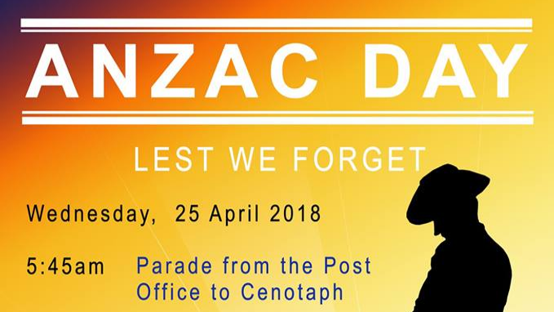 Article heading image for  Anzac Day