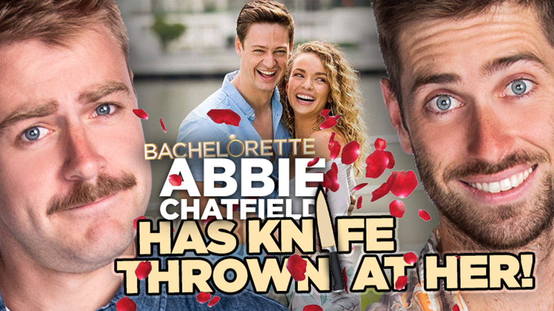 Article heading image for Abbie Chatfield Has Knife Thrown At Her!