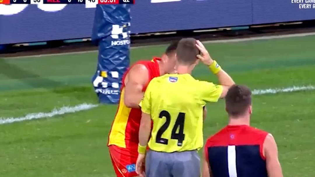 Article heading image for Steven May Cleared Of Deliberate Umpire Contact