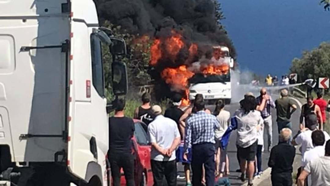 Article heading image for Aussies Caught Up In Bus Fire On The Way To Gallipoli Anzac Service