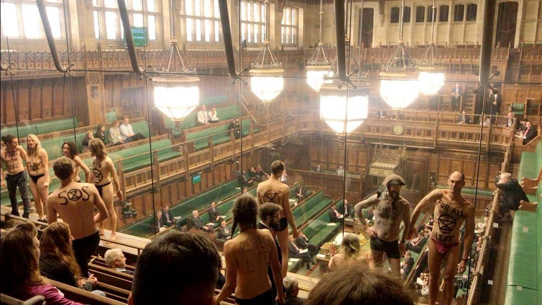 Article heading image for A Bunch Of People Stripped Down To Their Dacks In British Parliament. It Was Weird.